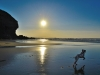 Blue Sunset on Chapel Porth by Louise Jones