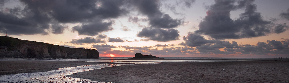 Perranporth Sunset by Claudia Crewes